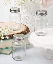 Picture of Mini Glass Jars with Silver Lid