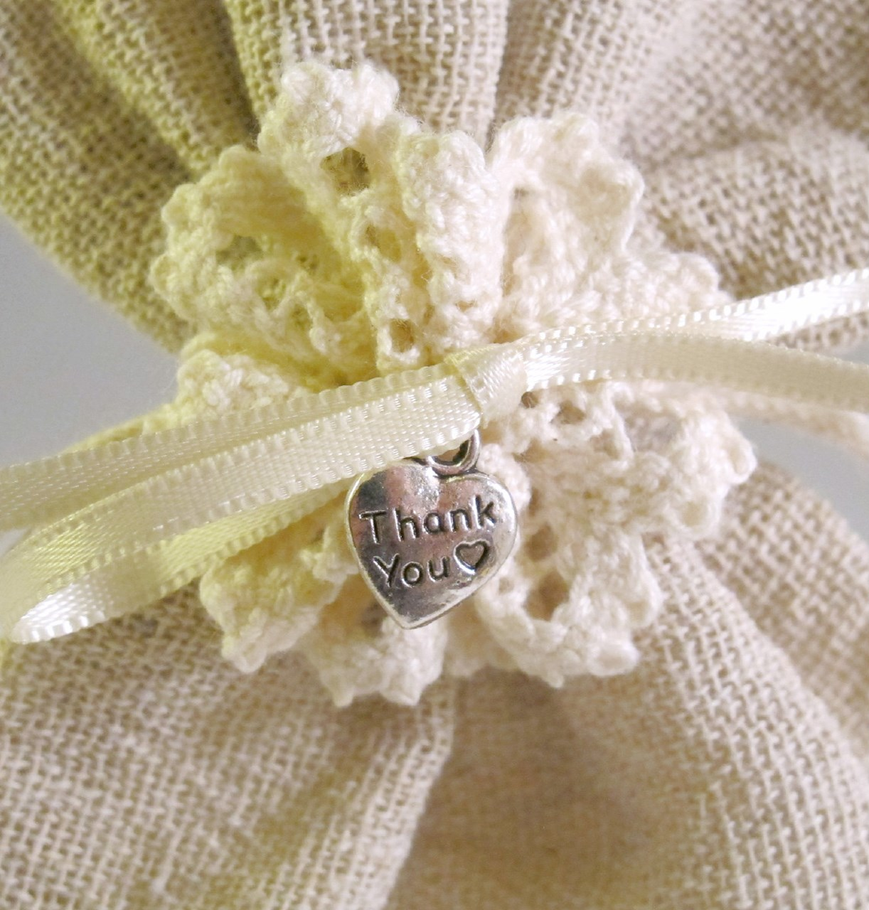 Hessian Bag With Hearts Uk Wedding Favours