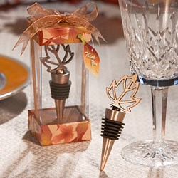 Picture of Leaf Design Wine Bottle Stopper