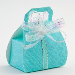 Picture of Celeste Blue Silk Favour Box