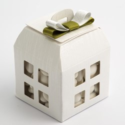 Picture of White Linen Favour Box