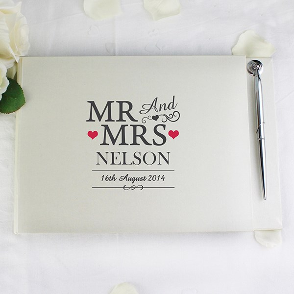 Picture of Mr & Mrs Guest Book & Pen