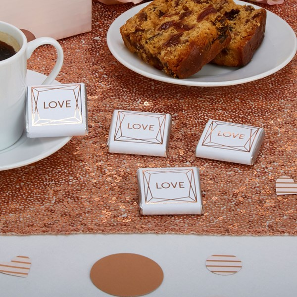 Picture of Geo Blush Chocolate Squares