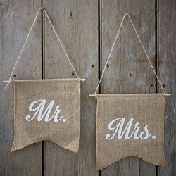 Picture of Mr & Mrs Hessian Flags