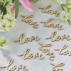 Picture of Love Words Wooden Confetti