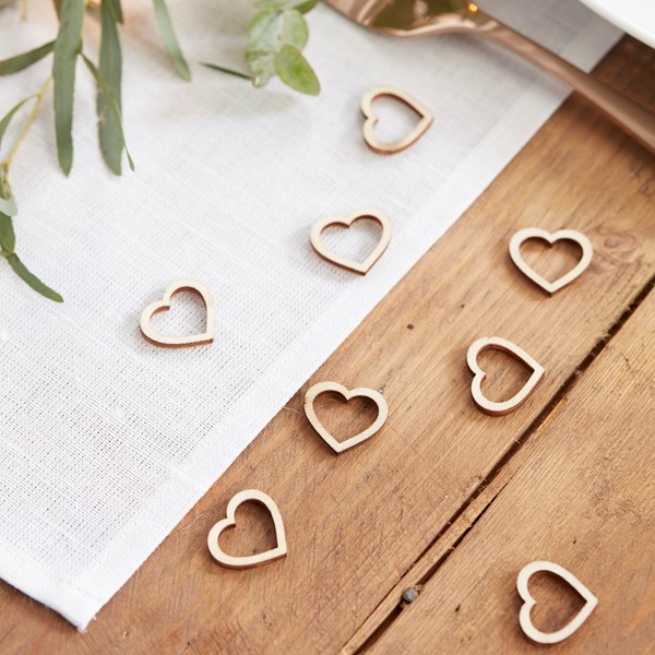 Picture of Wooden Heart Table Confetti