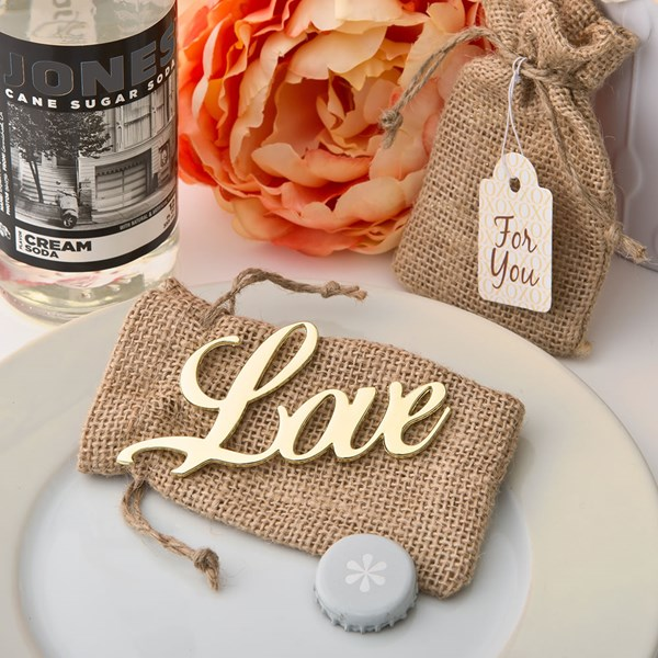 Picture of Shabby Chic Gold Love Bottle Opener