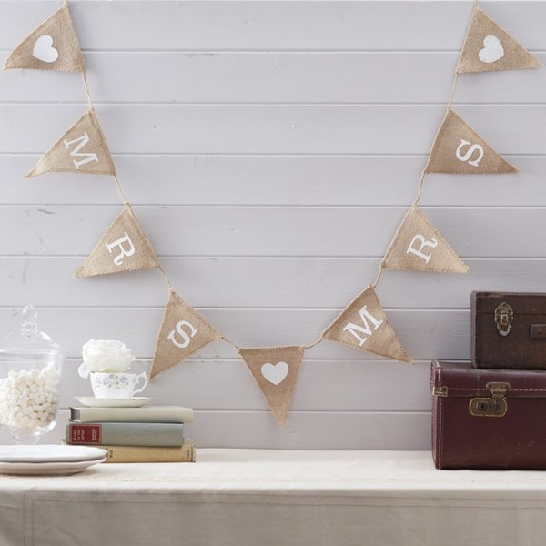 Picture of Mrs & Mrs Hessian Bunting