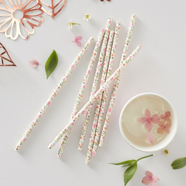 Picture of Paper Straws - Ditsy Floral