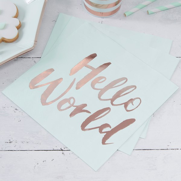 Picture of Paper Napkins - Hello World