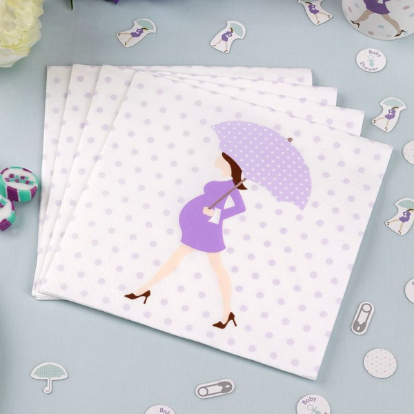 Picture of Paper Napkins - Showered With Love