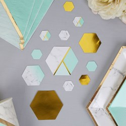 Picture of Table Scatters - Colour Block Marble - Mint
