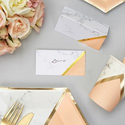 Picture of Place Cards - Colour Block Marble - Peach