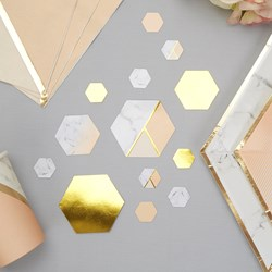 Picture of Table Scatters - Colour Block Marble - Peach