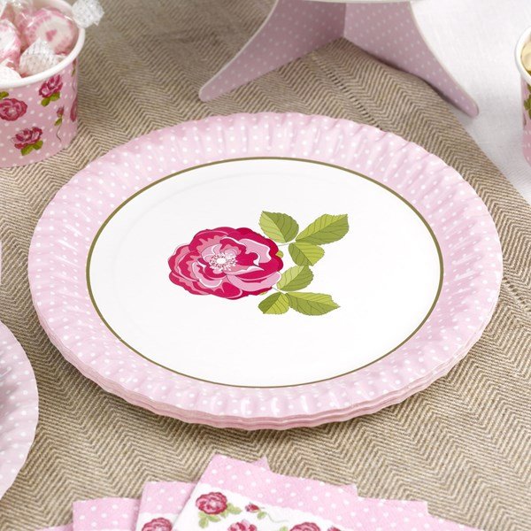 Picture of Paper Plates - Vintage Rose
