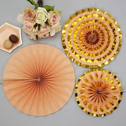 Picture of Pinwheel Decorations - Colour Block Marble - Peach