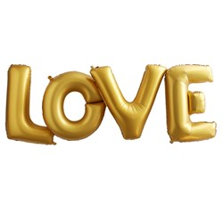 Picture of Foiled Love Balloon - Large Gold