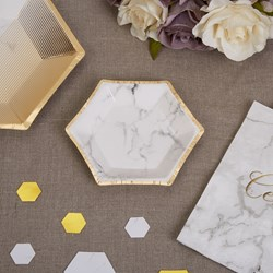 Picture of Small Paper Plates - Scripted Marble