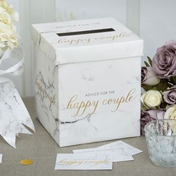 Picture of Wedding Wishes Post Box - Scripted Marble