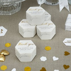 Picture of Favour Boxes - Scripted Marble