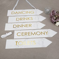 Picture of Wedding Signs - Scripted Marble