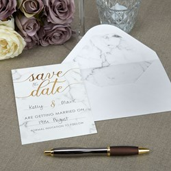 Picture of Save The Date Cards+Envelopes - Scripted Marble