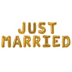Picture of Gold Foiled Balloons - JUST MARRIED