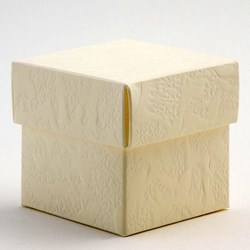Picture of DIY Sorgente Square Box & Lid Matt Ivory