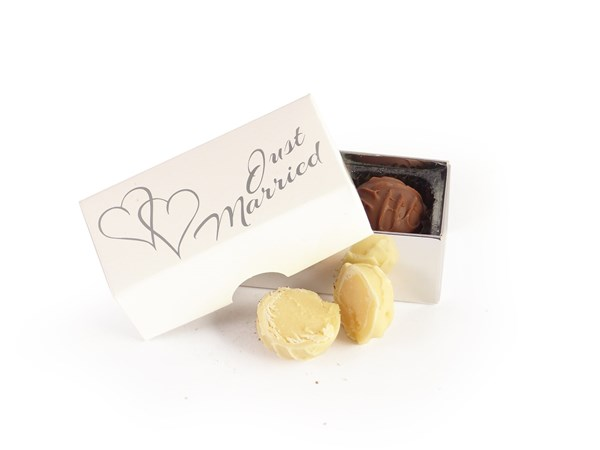 Picture of Just Married Truffle Wedding Favour
