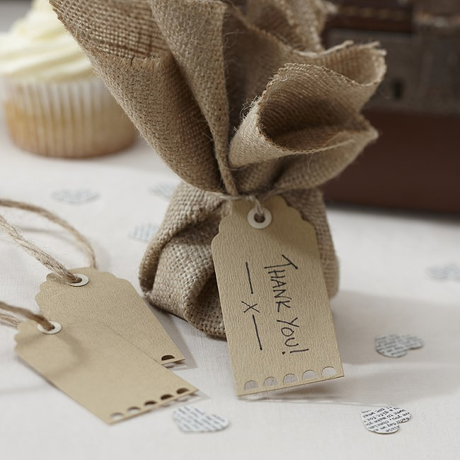 Brown Luggage Tags Vintage Affair Uk Wedding Favours