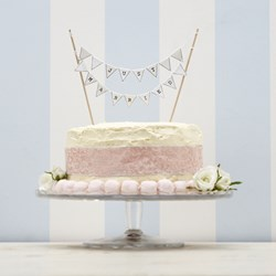 Picture of Bunting for cakes - Just Married
