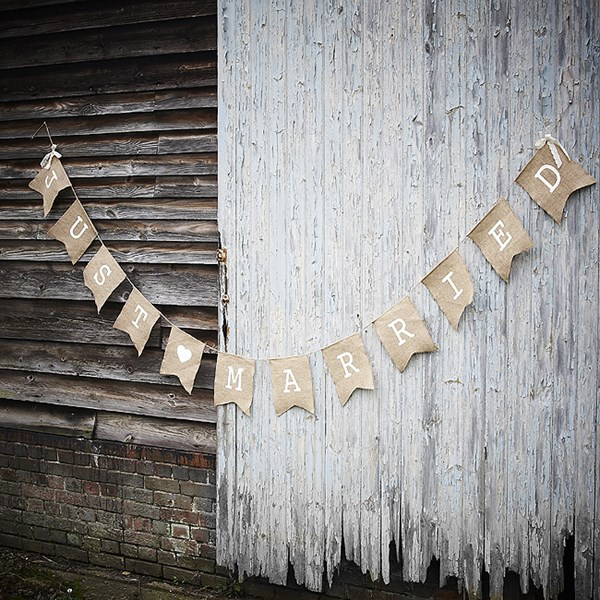Picture of Bunting Hessian Just Married