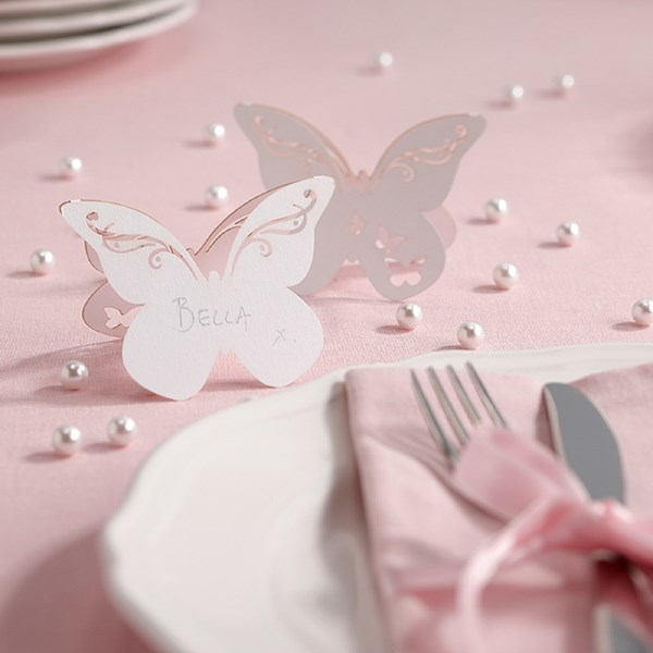 Picture of Butterfly Place Cards in White - Flutter-by