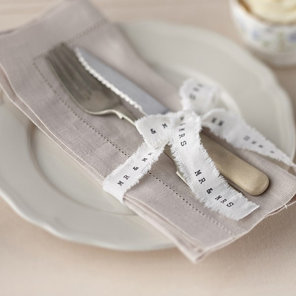 Picture of Frayed Ribbon - Mr and Mrs
