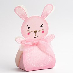 Picture of DIY Pink Friends Rabbit with Ribbon