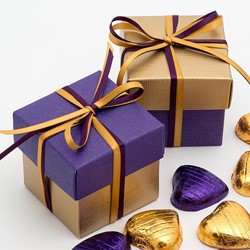 Picture of DIY Two Tone Boxes in Gold & Purple Silk