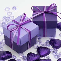 Picture of DIY Two Tone Boxes in Purple & Lilac Silk