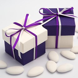 Picture of DIY Two Tone Boxes in White & Purple Silk