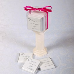 Picture of Exclusive Special Day Chocolates design 1 White Silver