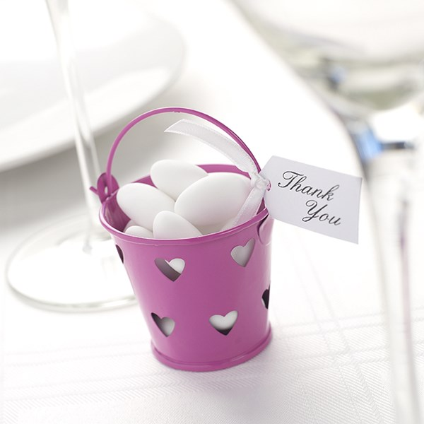 Picture of Favour Pails - Heart Design in Hot Pink