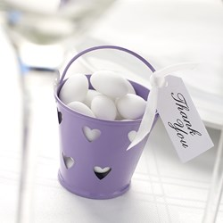 Picture of Favour Pails - Heart Design in Purple