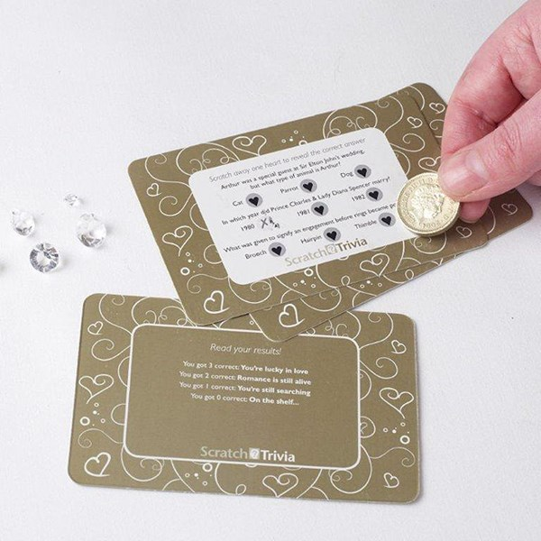 Picture of Gold Wedding Scratch Trivia Cards