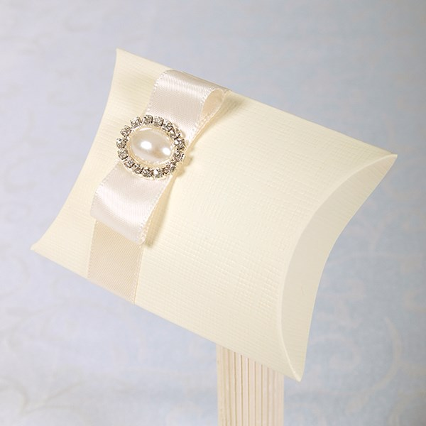 Picture of Luxury Simply Elegant Diamante and Pearl Pillow