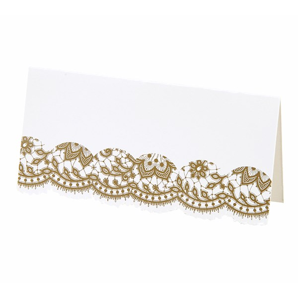 Picture of Party Porcelain Gold Place Card