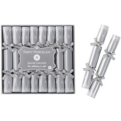 Picture of Party Porcelain Saucer Crackers in Silver