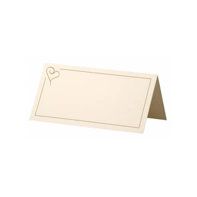 Picture of Place Cards - Contemporary Heart Gold