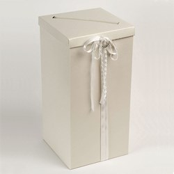 Picture of Post Box - Pelle Antique Pale Ivory