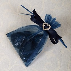 Picture of Ready Made Organza and Diamante Pouch in Navy