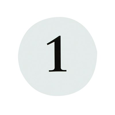 Picture of Round Table Numbers 1 - 12