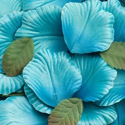 Picture of Satin Petals in Teal